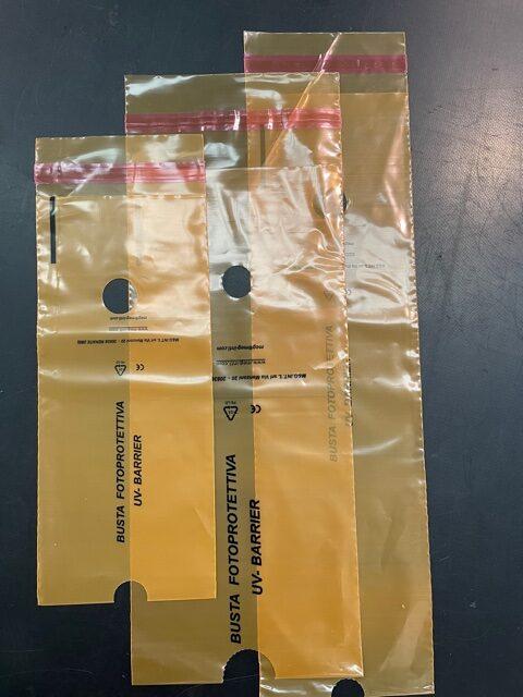 3 Buste foto-protettive UV-barrier